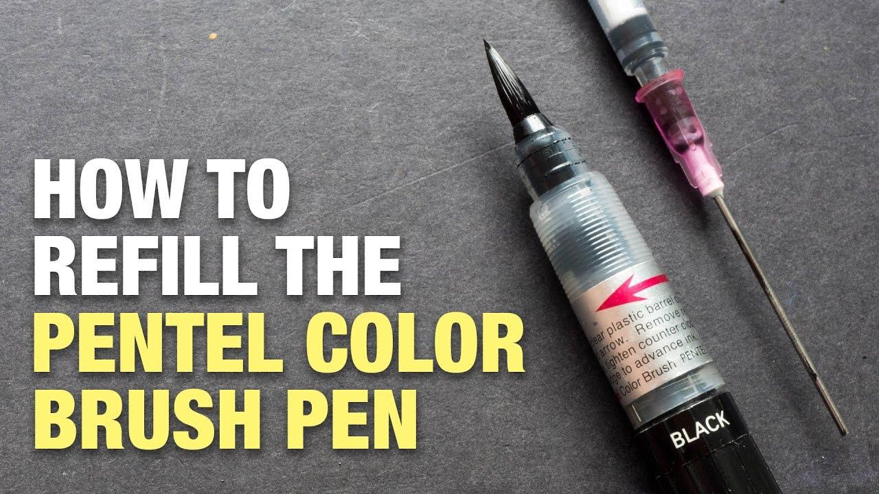 Black Ink Pentel Fude Brush Pen Cartridge refill