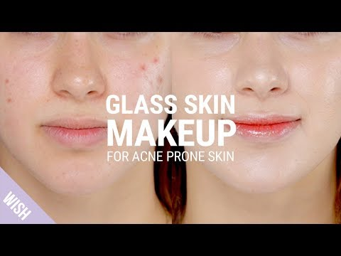 Glass Skin Makeup Tutorial for Acne Prone Skin with Blemishes | Whats TRENDing
