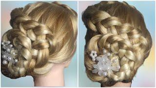 Красивая и быстрая прическа на праздник Quick Hairstyle
