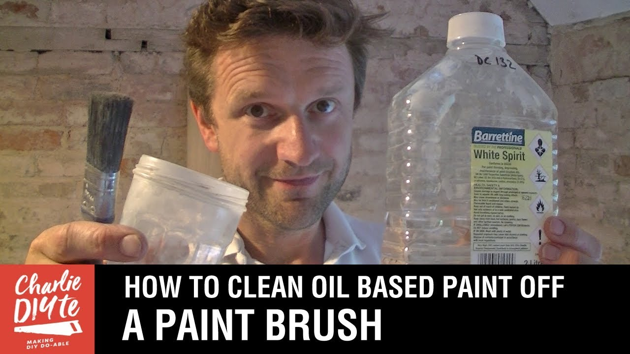 how to clean oil paint brushes with all white spirit recycled youtube. Black Bedroom Furniture Sets. Home Design Ideas