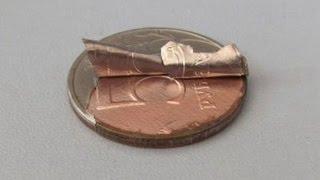 чистка медно-никелевых монет / как не нужно чистить монеты