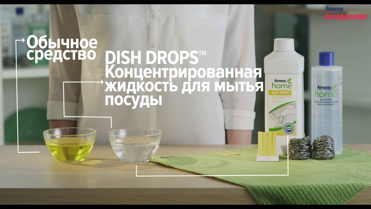 Презентация средства для мытья посуды Амвей Amway Dish Drops - YouTube