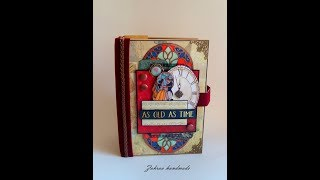 Handmade scrapbook mini album, Beauty & the beast mini album, handmade mini album