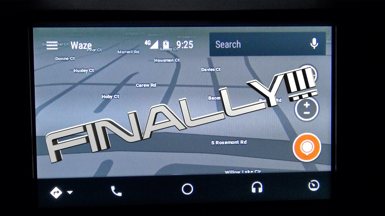Waze on Android Auto!