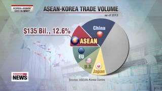 Pres. Park calls for liberalization of Korea-ASEAN FTA   한아세안 CEO 서밋