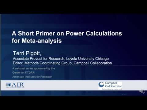 A Short Primer on Power Calculations for Meta-analysis