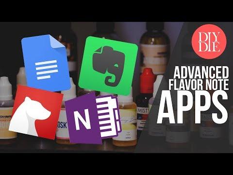 Advanced Flavor Note Taking Apps for Windows & Mac (DIY E-liquid Mixing)