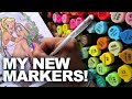 Using my NEW MARKERS and FINE-LINERS! | Drawing Without Thinking, Just Draw! | DrawingWiffWaffles