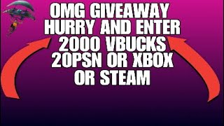 GIVEAWAY AT 110 SUBS HURRY -MUST WATCH- FORTNITE BATTLE ROYALE 20 PSN ou 20 Steam ou Xbox