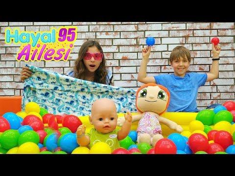 Hayal Ailesi. Çocuklar için yeni oyun odası! Eğlenceli video