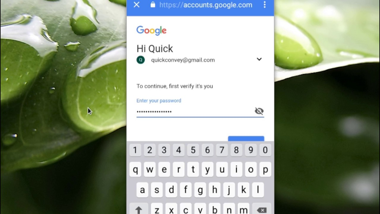 how to set password on android phone