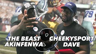 Beastmode akinfenwa and cheekysport dave | madden nfl 18 v fifa | banter filled interview!