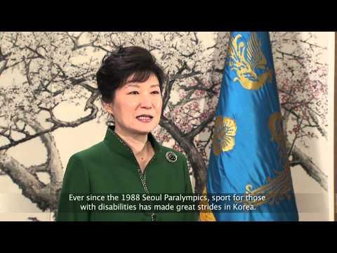 Korean President Park Geun-Hye says PyeongChang 2018 will be transformational