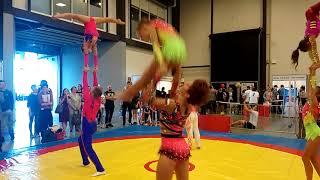 спортивная акробатика - открытый урок