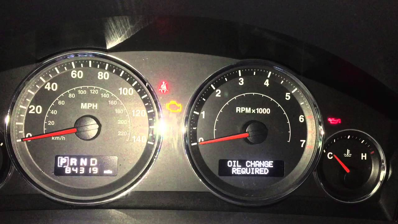 How To Reset Jeep Commander Oil Change Required Light