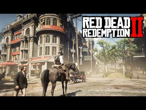 BIGGEST CITY EXPLORATION + CHARACTER & WEAPON CUSTOMISATION! - Red Dead Redemption 2!
