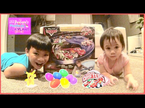 disney-cars-micro-drifters-lightning-mcqueen-and-pokemon-surprise-eggs-disney-toys-review