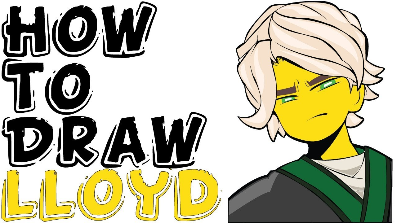 How To Draw Lloyd For Kids From The Lego Ninjago Movie Youtube