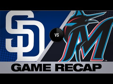 Paddack takes no-no into 8th in Padres' win | Padres-Marlins Game Highlights 7/17/19
