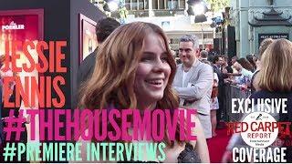 Jessie Ennis interviewed at the Premiere of