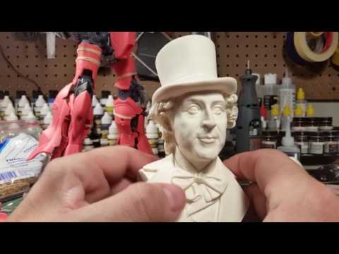 Willy Wonka Gene Wilder bust sculpted by Jeff Yagher and offered by Angello Valleta.
