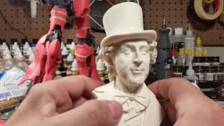 Willy Wonka (Gene Wilder) bust sculpted by Jeff Yagher and offered by Angello Valleta.
