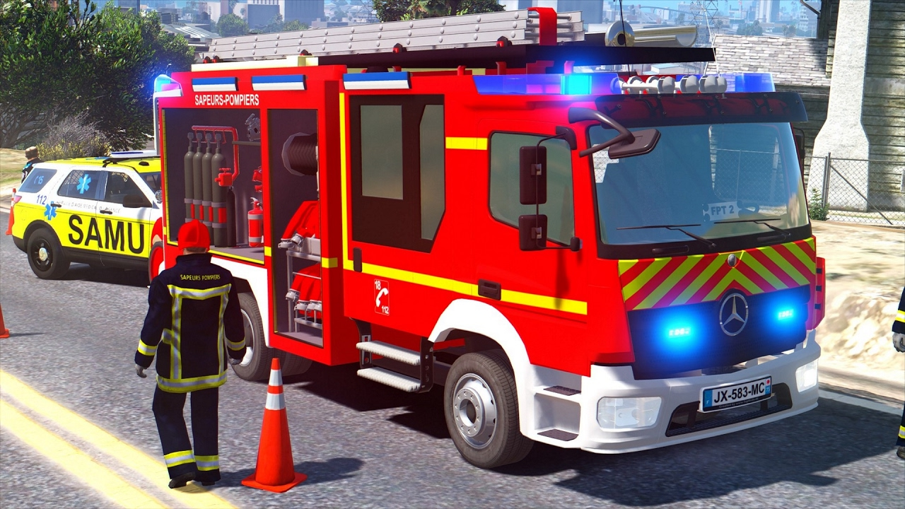 gta 5  sapeurs-pompiers  intervention5
