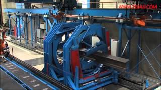 ZEMAN - robotic beam assembly/welding: HEA400 beam