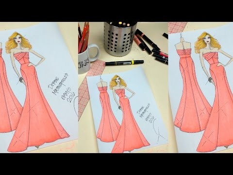 Ingredients of a Fashion Sketch: How to Draw a Strapless Gown
