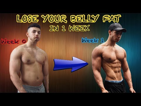 how-to-lose-belly-fat-in-1-week!!