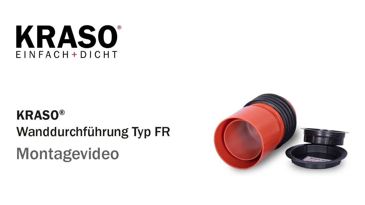 genug Montagevideo KRASO Wanddurchführung Typ FR - MPA geprüft bis 7,0 AX11