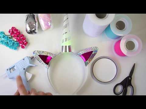 Light-Up Unicorn Horn Headband DIY Instructions - Decorating your Unique Unicorn Horn