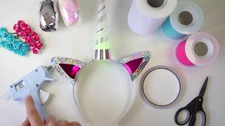b0fd8dc8378 Light-Up Unicorn Horn Headband DIY Instructions - Decorating your Unique Unicorn  Horn
