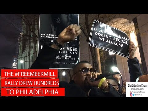Philly Rally for Meek Mill draws celebrity support
