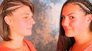 Keyla & Sophia: Halbe Cornrows - Seiten-Cornrows (Fake Sidecut)