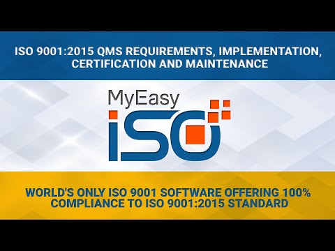 ISO 9001 certification, ISO 9001 QMS implementation with MyEasyISO Software
