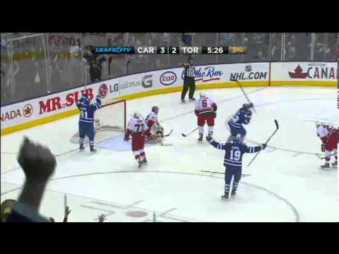 Dion Phaneuf 3-3 Goal - Maple Leafs vs. Hurricanes - Mar/28/2013
