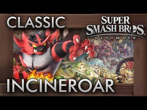 Super Smash Bros. Ultimate: Classic Mode - INCINEROAR - 9.9 Intensity No Continues