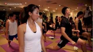 Hot Yoga @ True Fitness - Maxinutrition New Body Challenge(, 2012-08-09T09:11:29.000Z)