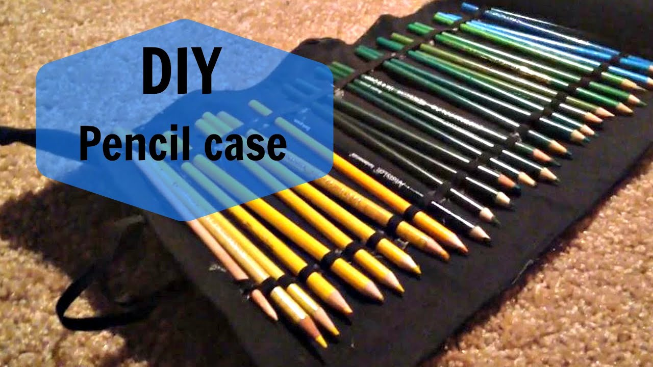 How To Make A Pencil Roll Up Case Youtube