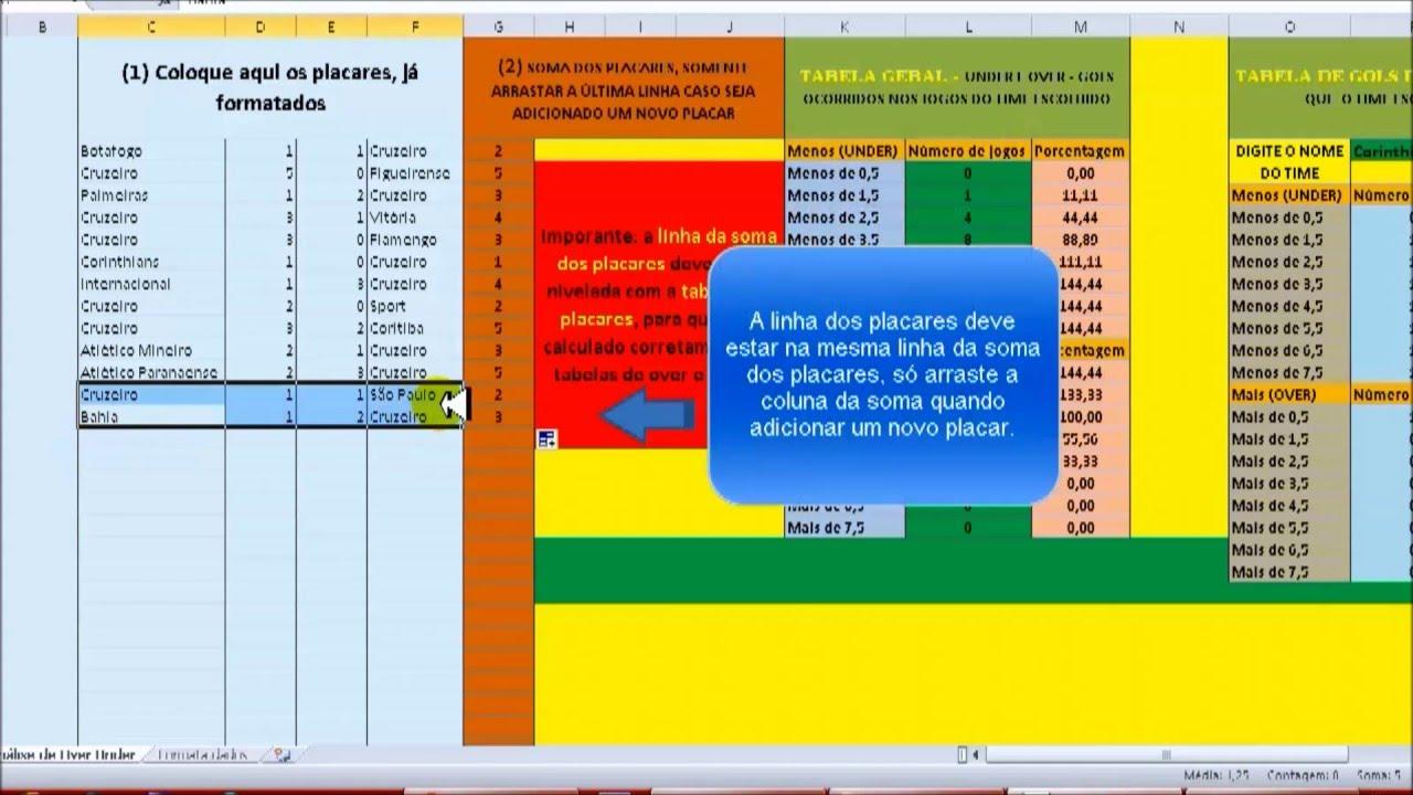Planilha apostas desportivas download