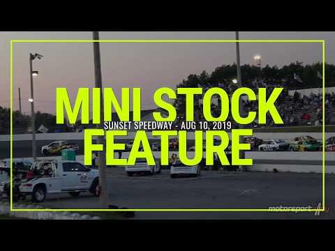 Mini Stock Feature - Sunset Speedway - Aug 10, 2019