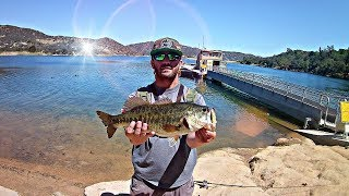 Bass fishing in ultra clear water