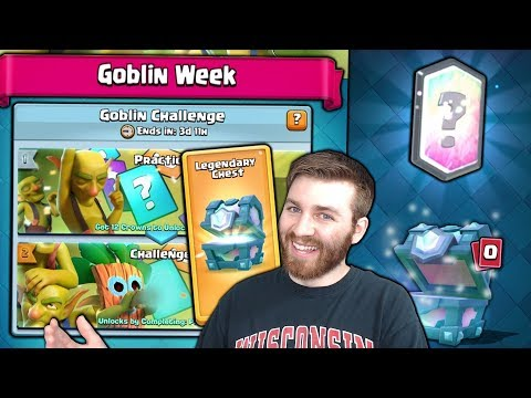 NEW GOBLIN WEEK! WINNING NEW GOBLIN CHALLENGE! | Clash Royal