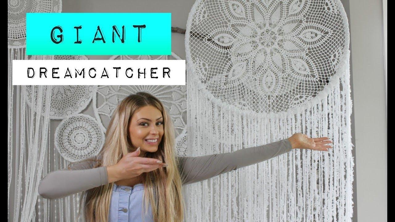 Diy How To Make A Giant Crochet Dream Catcher Youtube