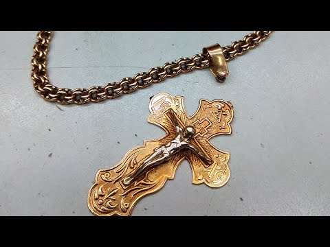 Золотой крестик ремонт душки и галстучка ®️