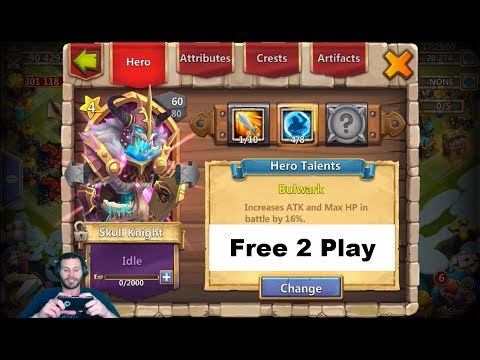 JT's Free 2 Play Power Leveling My New Skull Knight Castle Clash