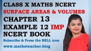 Chapter 13 Surface Areas and Volumes Example 12 Class 10 Maths NCERT
