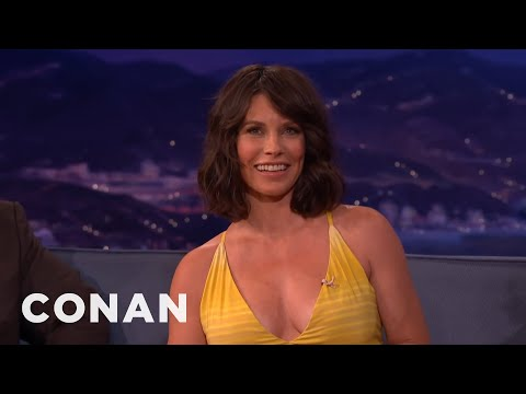 Evangeline Lilly's 30Hour Home Birth   CONAN on TBS