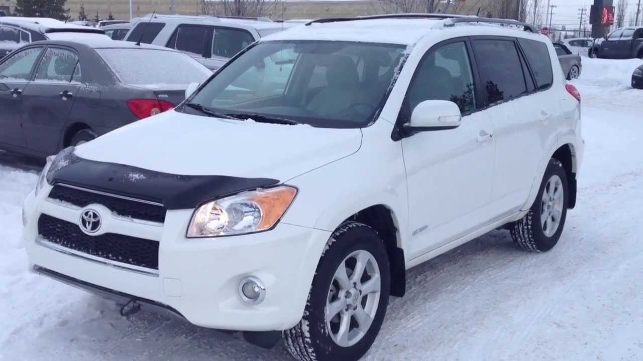 pre owned white 2010 toyota rav4 4wd limited alberta - youtube